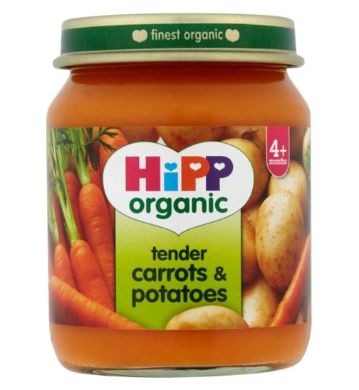 HiPP Organic Tender Carrots & Potatoes 4+ Months 125g