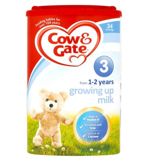 Cow & Gate Growing Up Milk Fortified Milk Drink 1-2 Years 900g