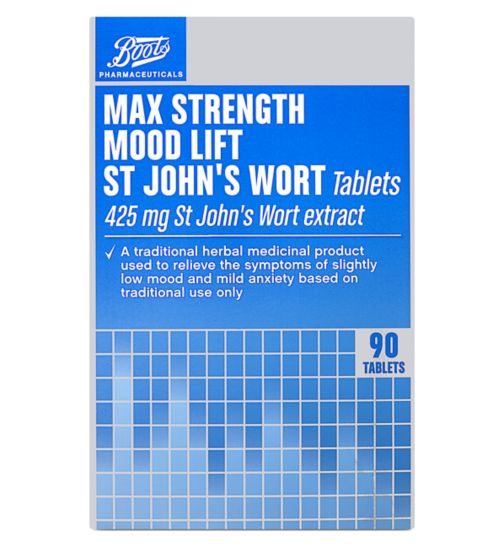 Boots Mood Lift Max Strength St John's Wort Tablets - 90 tablets