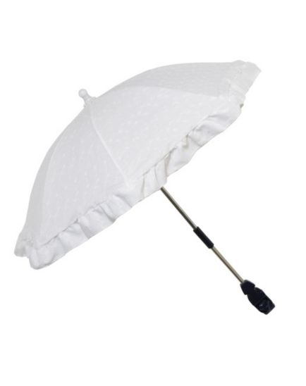 Boots Broderie Anglaise Pushchair Parasol - White