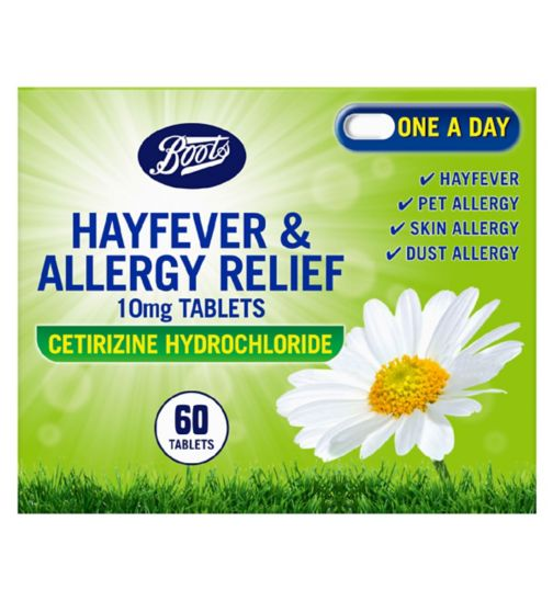 Boots Pharmaceuticals Hayfever and Allergy Relief - 60 Tablets