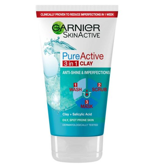 Garnier Pure 3-in-1 Wash Scrub & Mask 150ml