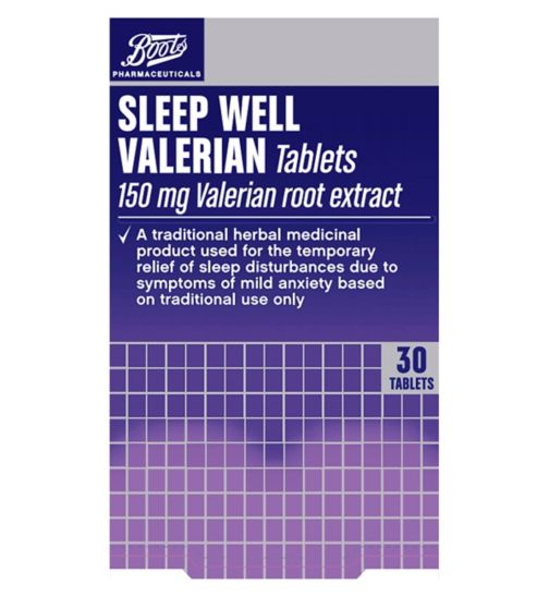 Boots Pharmaceuticals Sleep Well Traditional Herbal Remedy 150mg - 30 Tablets