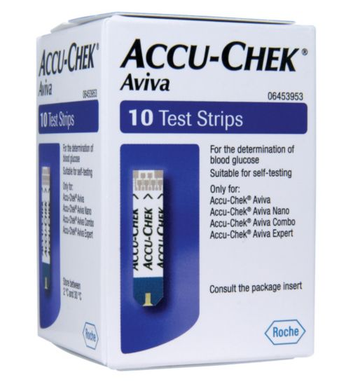 Accu-Chek Aviva Blood Glucose Test Strips -10 Strips