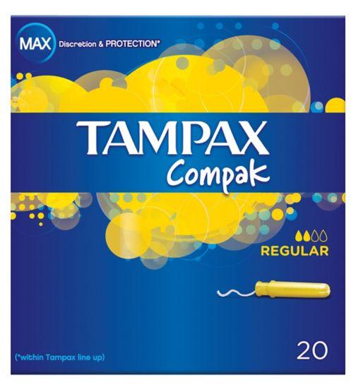 Tampax Compak Regular 20 Tampons