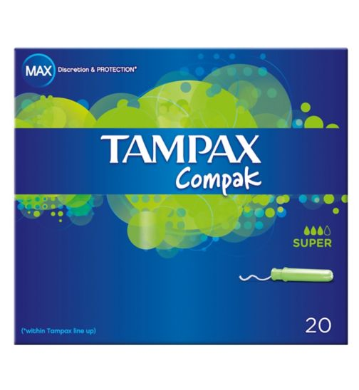 Tampax Compak Super 20 Tampons