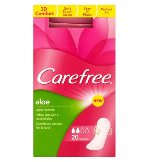 Carefree Aloe 20 Single Wrapped Pantyliners