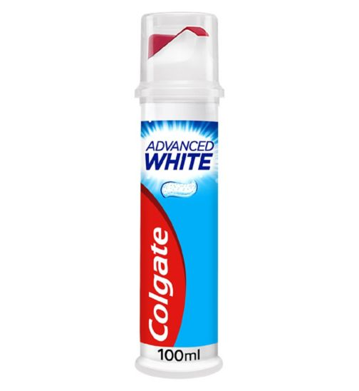 Colgate Advanced White Whitening Toothpaste Pump 100ml