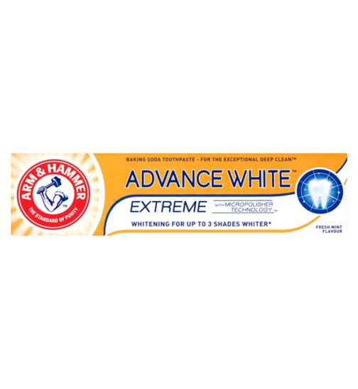 Arm & Hammer Advance White Extreme Whitening Baking Soda Toothpaste 75ml