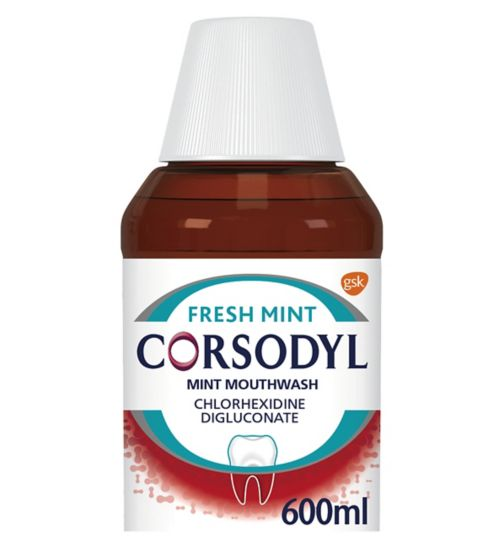Corsodyl Mint  Mouthwash 600ml