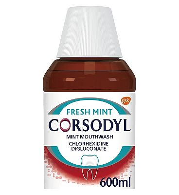 Corsodyl Gum Disease Treatment Mouthwash Chlorhexidine 0.2% Mint 600ml