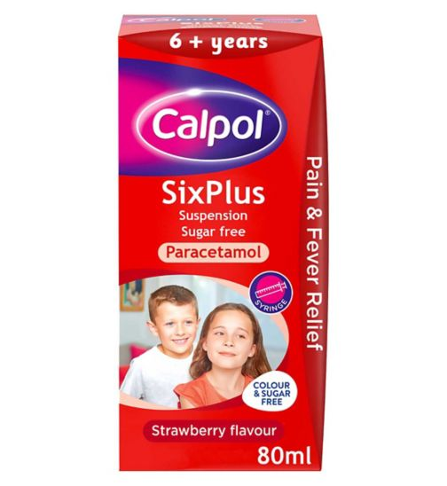 <p>Calpol SixPlus Suspension - 80ml</p>