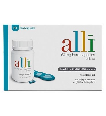 Alli Weight Loss Aid Orlistat Capsules 60mg 84s