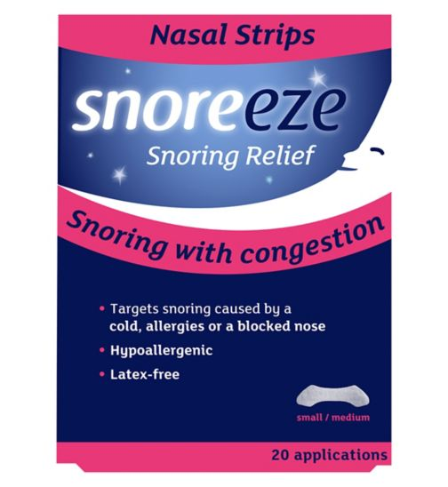 Snoreeze Snoring Relief Nasal Strips Small/Medium - 20 Applications