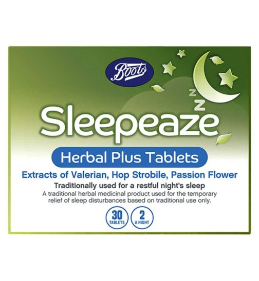 Boots Pharmaceuticals Sleepeaze Herbal Tablets - 30 Tablets