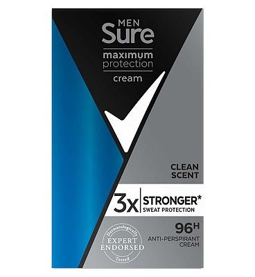 Sure Men Maximum Protection Anti-perspirant Cream Stick Clean Scent 45ml