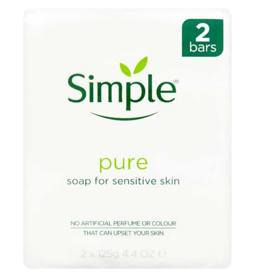 <p>Simple Pure Soap Bar for Sensitive Skin 2 x 125g</p>