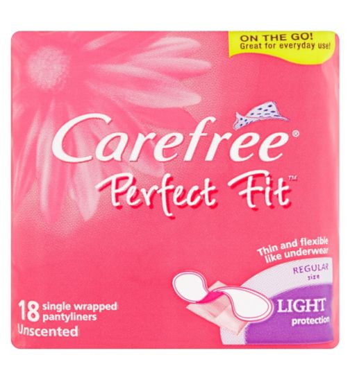 Carefree Perfect Fit 18 Single Wrapped Pantyliners