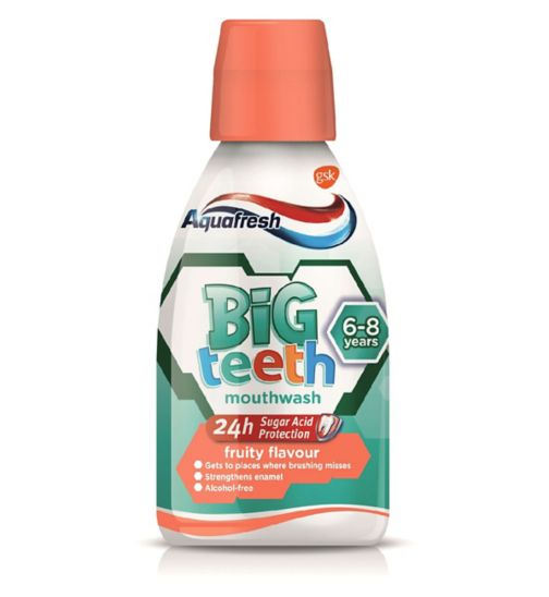 Aquafresh My Big Teeth Mouthwash Fruity Flavour 300ml
