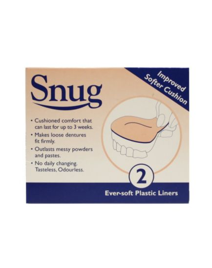 Snug Denture Cushions LinersTwin Pack