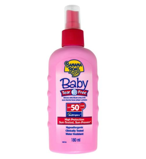 Banana Boat Baby Tear-Free Sun Lotion SPF 50 - 1 x 180ml