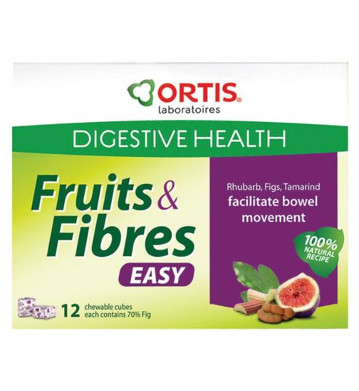 Ortis Fruits and Fibres - 12 chewable fruit cubes