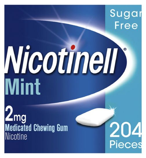 Nicotinell Mint Medicated Chewing Gum 2mg - 204 pieces