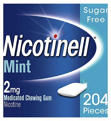 Nicotinell Nicotine Gum Stop Smoking Aid 2 mg Mint 204 Pieces
