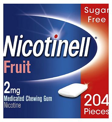 Nicotinell Nicotine Gum Stop Smoking Aid 2 mg Fruit 204 Pieces