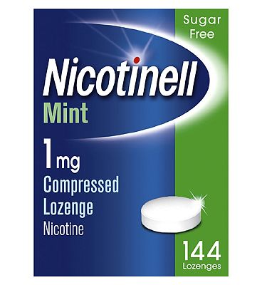 Nicotinell Nicotine Lozenge Stop Smoking Aid 1 mg Mint 144 Pieces