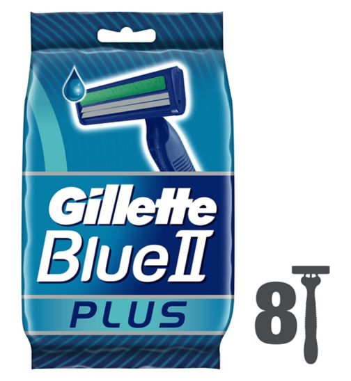 <p>Gillette Blue II Plus 8 Disposable Razors</p>