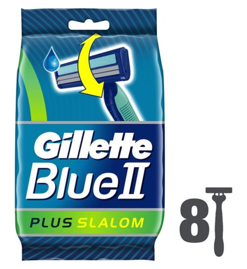 Gillette Blue II Plus Slalom 8 Disposable Razors