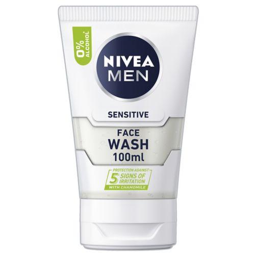 NIVEA MEN Sensitive Face Wash with 0% Alcohol, 100ml