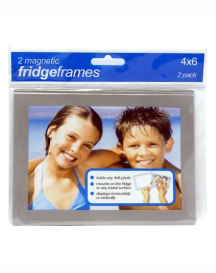 Shot 2 Go Magnetic Fridge Photo Frames 4x6 - 2 pack