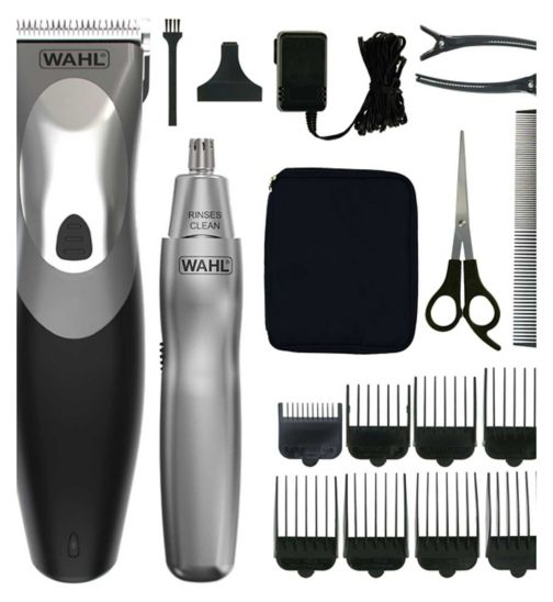 <p>Wahl Clip and Rinse Rechargeable Hair Clipper with Personal Trimmer</p>
