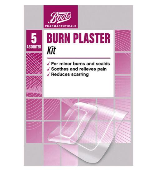 <p>Boots Faster Healing Burn Plaster Kit</p>