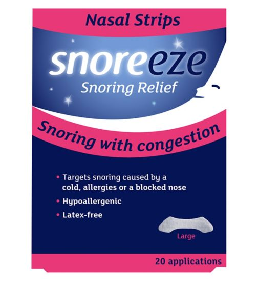 Snoreeze Snoring Relief Nasal Strips Large - 20 Applications
