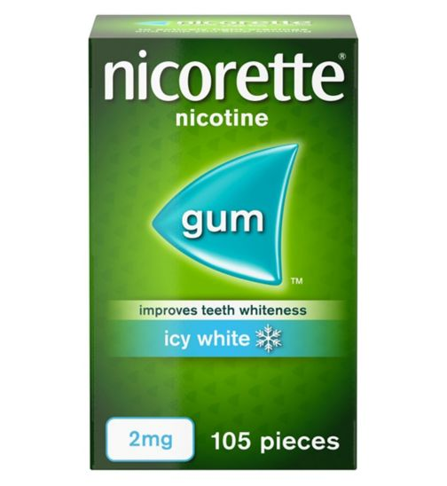 Nicorette Icy White 2mg Gum - 105 pieces