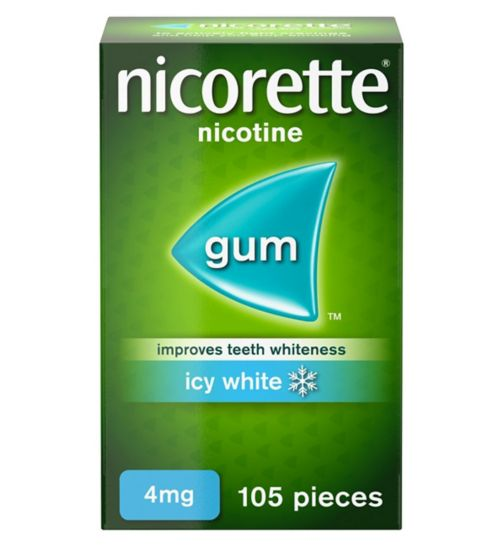 <p>Nicorette Icy White Gum 4mg - 105 Pieces</p>