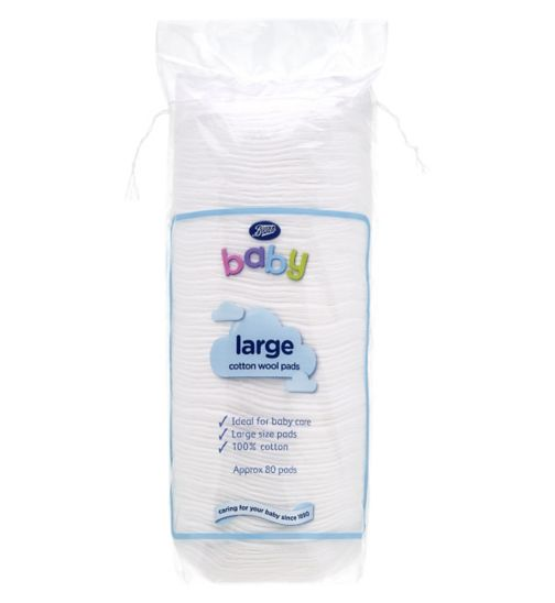 Boots Baby Cotton Wool Pads Large - 1 x 80 Pack