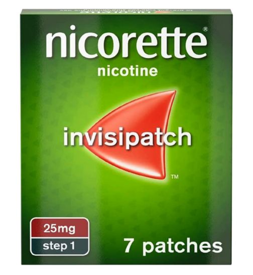 Nicorette Invisi 25mg patch - 7 patches