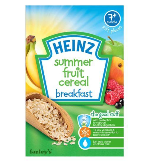 Heinz 7+ Months Soft Pieces Summer Fruit Cereal Breakfast 120g