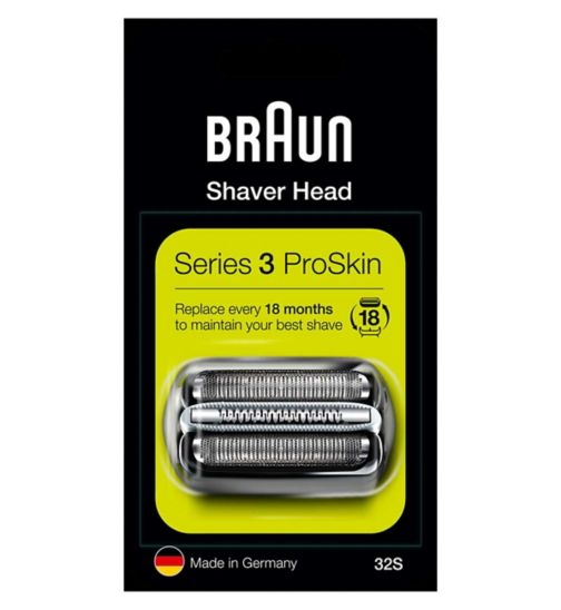 Braun Series 3 Electric Shaver Replacement Foil Cartridge, 32B – Black
