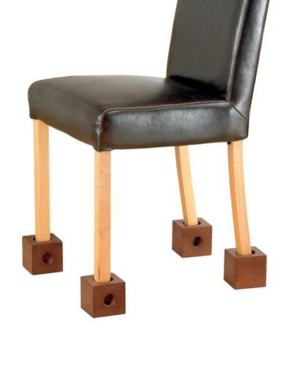 Homecraft Wooden Chair Raisers 7.5cm - Set of 4