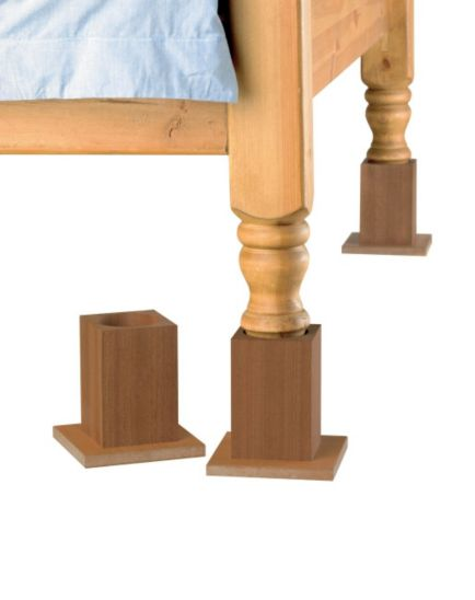 Homecraft Wooden Bed Raisers 13cm - Set of 4
