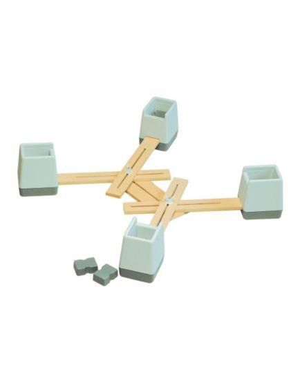 Homecraft Langham Linked Chair Raisers - Set of 4