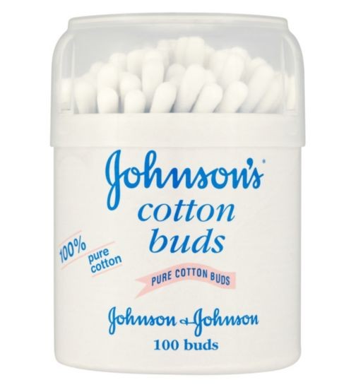 Johnson's Baby Cotton Buds - 1 x 100 Drum