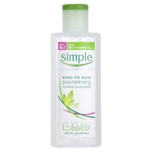 Simple Kind To Skin Pore Minimising Toning Cleanser 200ml