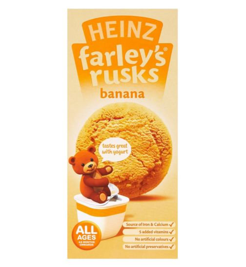 Heinz All Ages 4-6 Months Onwards Farley's Rusks Banana 150g