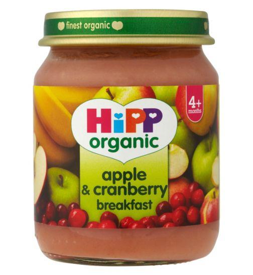 HiPP Organic Apple & Cranberry Breakfast 4+ Months 125g